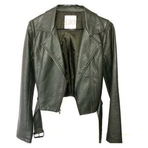 Leather jacket & leather vest in one